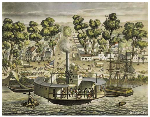 Sacramento embarcadero in 1850