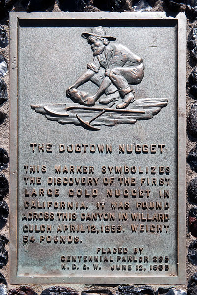 Dogtown Nugget plaque