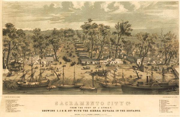 Sacramento, California in 1850