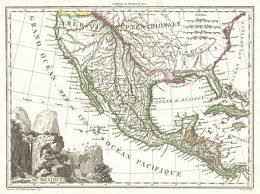 Map of Mexico, Texas and California 1810
