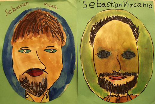 Sebastian Vizcaino drawn by Barron Park School students