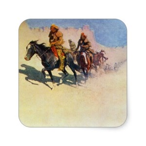 Jedediah Smith crossing the Mojave by Frederick Remington