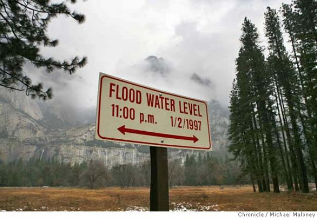 Yosemite Valley flooded in 1997