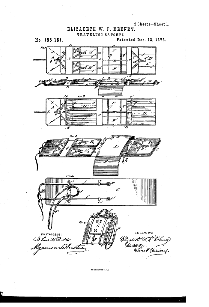Elizabeth W. P. Keeney patent drawing