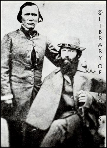 Kit Carson with John Frémont. Courtesy Library of Congress.