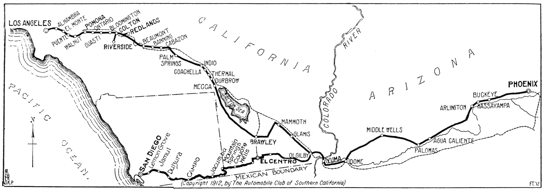 Map showing Imperial County