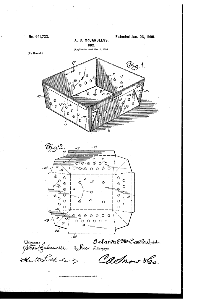 Arlanda McCandless fruit shipping box patent