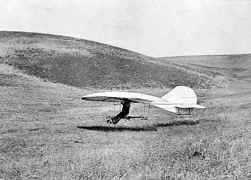 John J. Montgomery testing a glider over Ortay