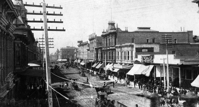 Santa Barbara's Main Street in the 1880's
