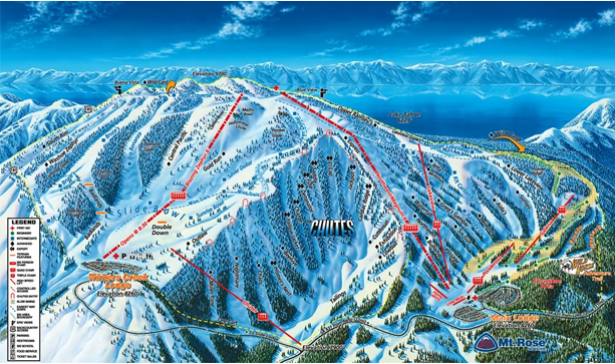 Mt. Rose, one of many ski resorts at Lake Tahoe