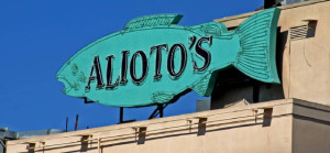 Alioto's Restaurant sign.