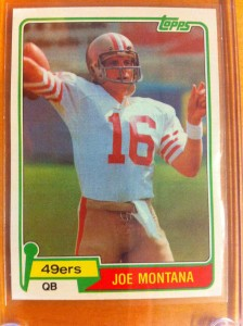 Joe Montana. Topps Trading Card.