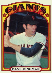 Dave Kingman baseball card.