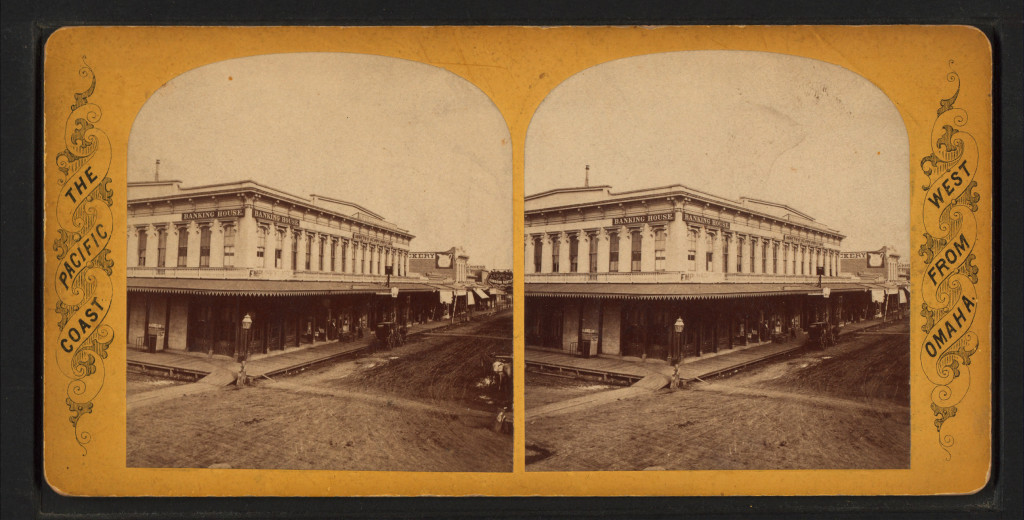 Stockton Main Street (around 1870).