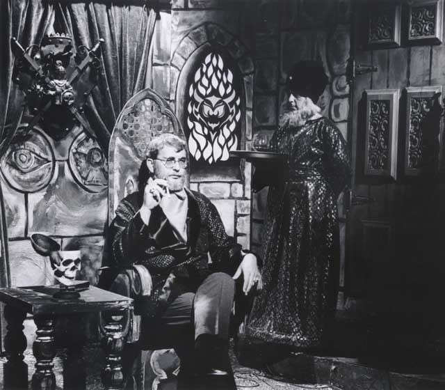 "Frank Sheridan, Asmodeus on San Francisco's KEMO TV-20's horror show ""Shock Theatre,"" ""Shock It To Me Theatre,"" and ""Double-Headed Theatre"" from 1968 - 71."