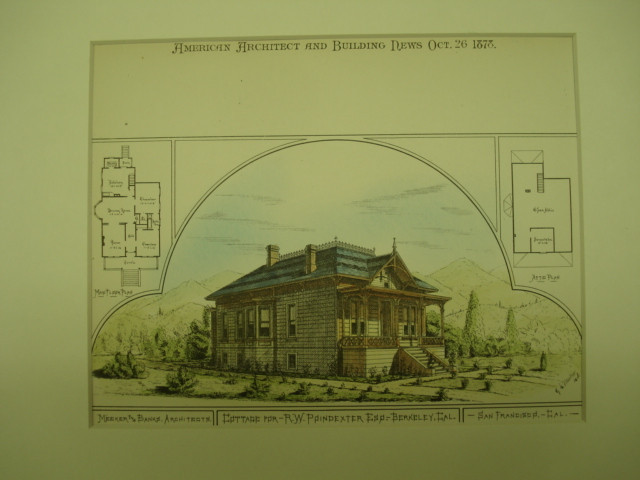 Cottage for R. W. Poindexter, Esq. , Berkeley, CA, 1878, Meeker & Banks.
