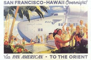 Pan American World Airways 'Clipper' postcard.