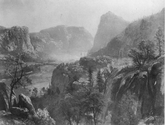 Study for The Hetch Hetchy by Albert Bierstadt. Collection Mr. and Mrs. E.E. White, Mamaroneck, New York.