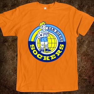 San Diego Sockers unisex fitted tee.