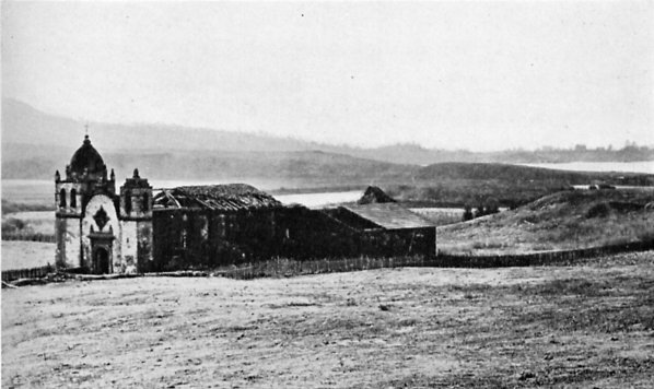 Carmel Mission. Photograph by Carlton Watkins (1860s).