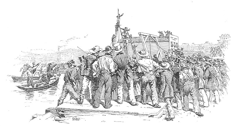 The Hanging of Stuart by the First Vigilance Committee (1851).