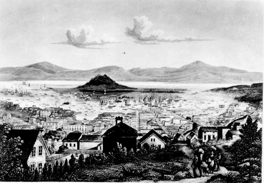 San Francisco. Engraving from The United States Illustrated by Charles A. Dana. (1855).