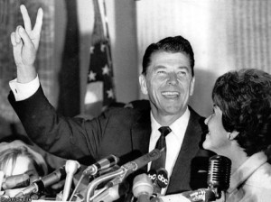 Governor Ronald Regan (1966).