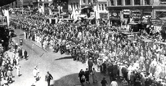 Funeral following Bloody Thursday (1934).