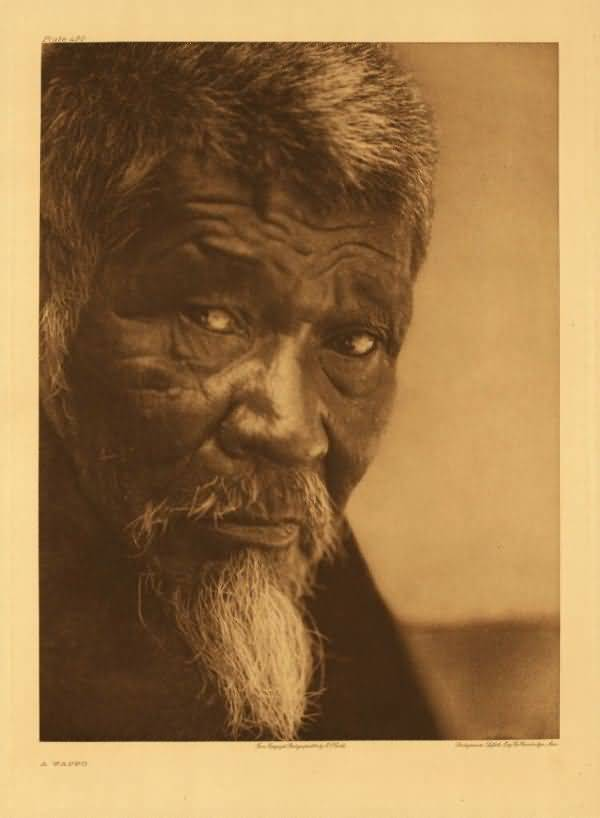 Wappo man. Photograph by Edward S Curtis (circa 1906).