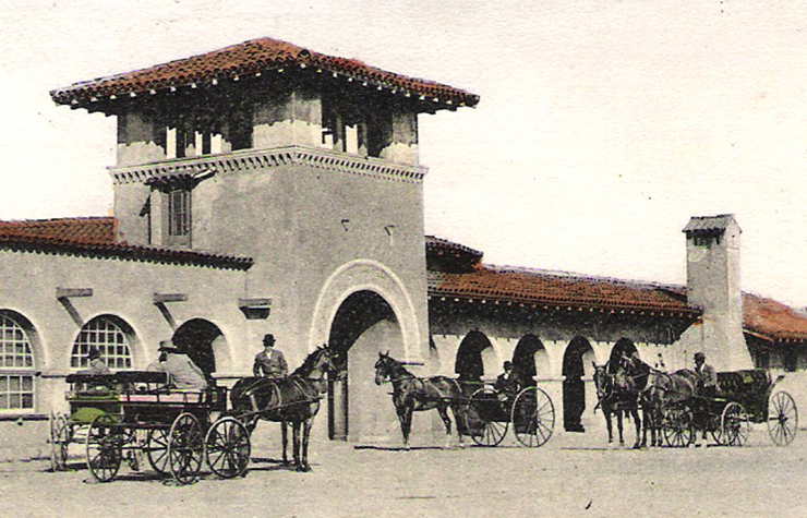 Southern Pacific Railroad depot, Burlingame (1903).