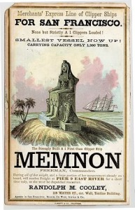 Memnon Clipper Ship adversitement.