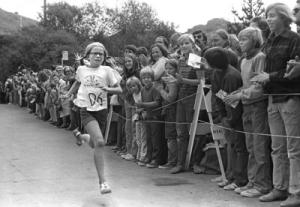 Mary Boitano winning the Dipsea Race (1973).