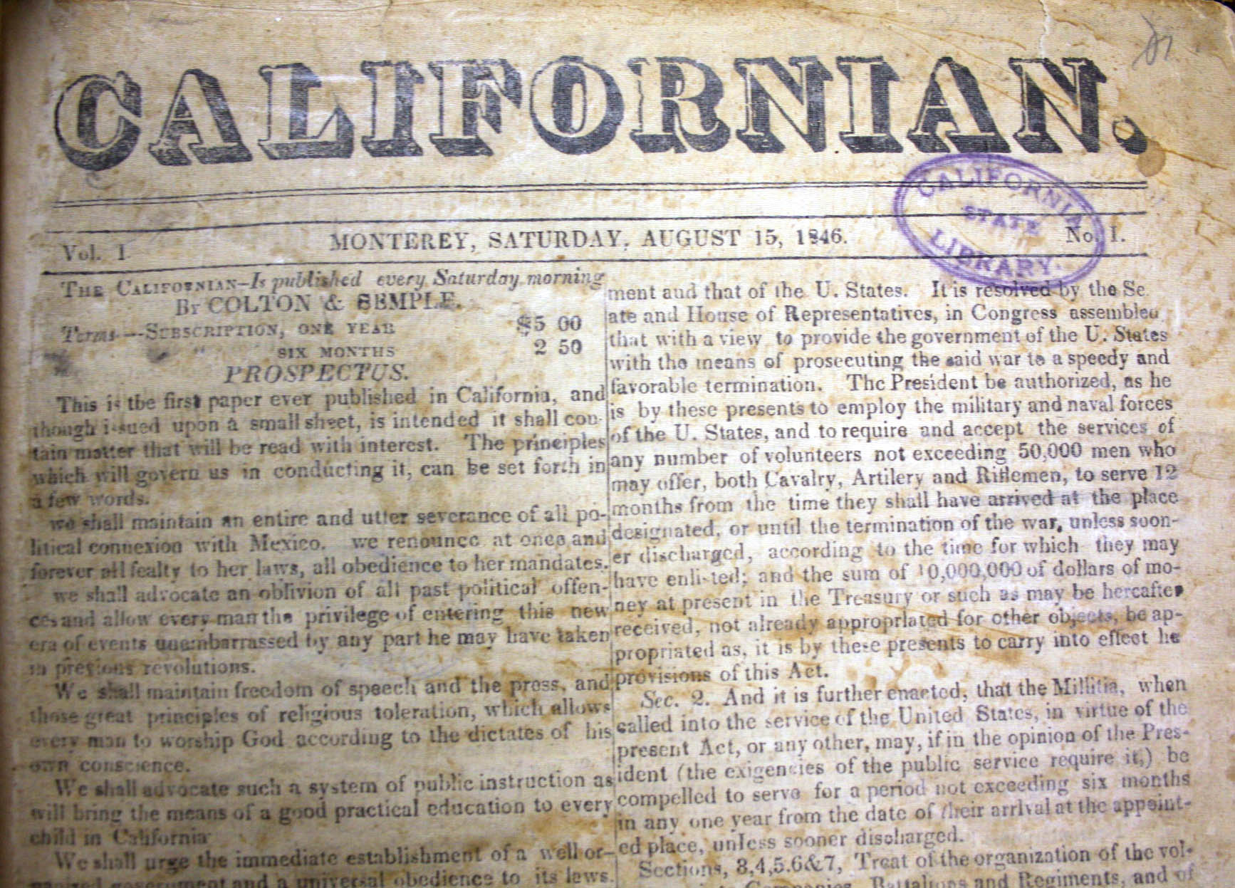 Californian (1846).