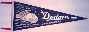 LA Dodgers. World Series pennant (1963).