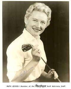 Ruth Jessen, MacGregor promotional golf photo.