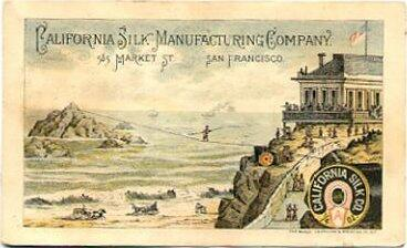 James Cooke walked a tightrope from the San Francisco Cliff House to Seal Rocks (1865).