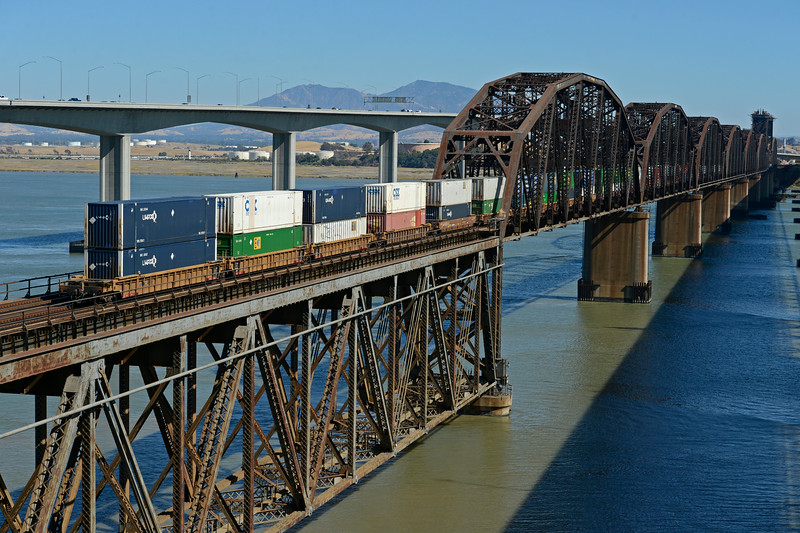 Benicia-Martinez railroad bridge.