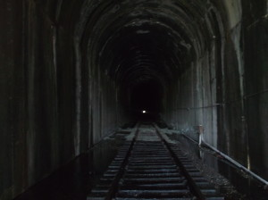 Island Mountain railroad tunnel.