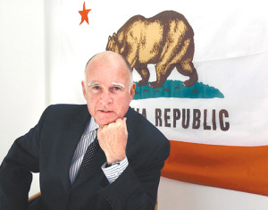 Jerry Brown, photograph by Will Davison.