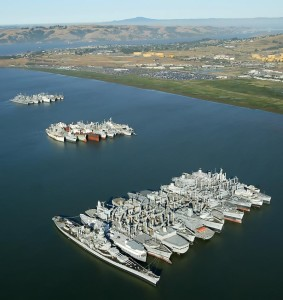 "Suisun Bay ""ghost fleet""."