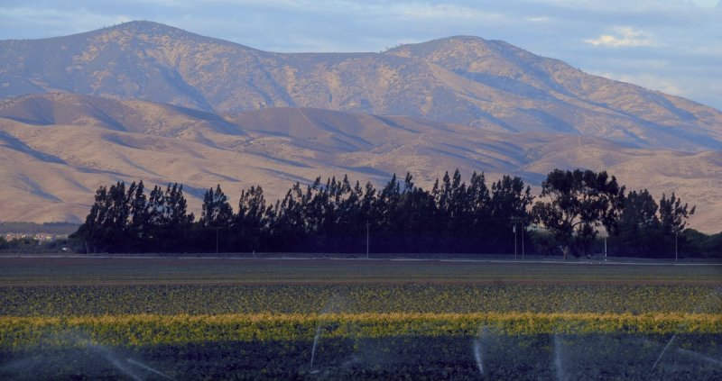 Sunset Over the Gabilan Mountains, from the Salinas Valley.