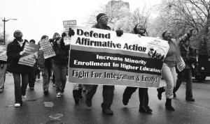Affirmative action demonstration.