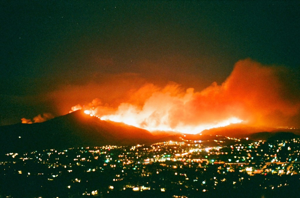 Harris Fire, Mount Miguel (2007).