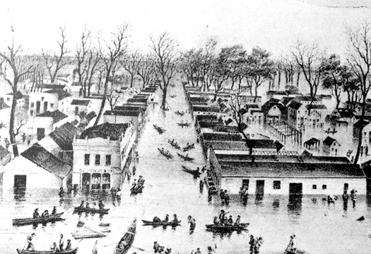 Sacramento River flood (1849-50).