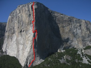 El Capitan, nose route.