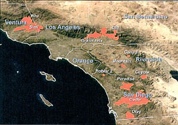 Fires in Southern California (1993).