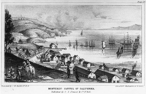 Joseph Warren's A Tour of Duty in California. Illustration by Wm. Endicott & Co. after a sketch by J.W. Revere.