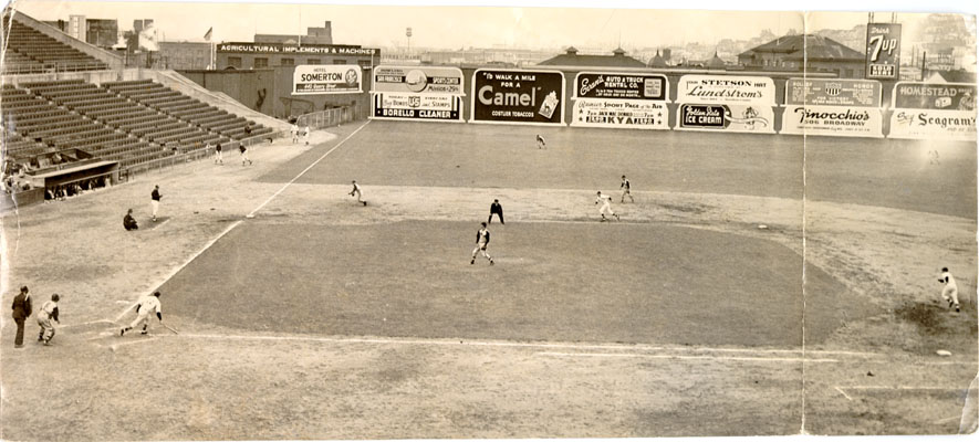 Seals at Seals Stadium (1943).