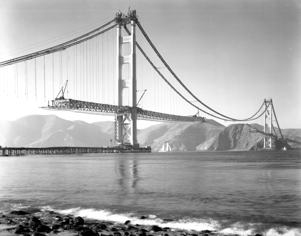 Golden Gate Bridge (1936). Courtesy the Golden Gate Bridge, Highway and Transportation District.