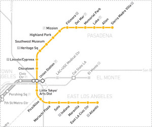 Gold Line map.